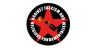 "Aufkleber ""Against Fascism and Religious Fundamentalism"""